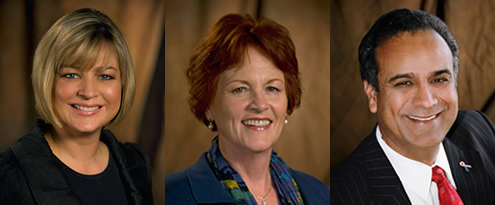 Anaheim Councilmembers Kris Murray, Gail Eastman, and Harry Sidhu