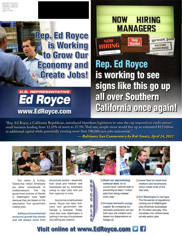 Ed Royce Mailer