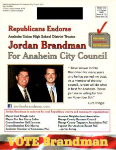 Brandman Mailer to Republicans - Front Side