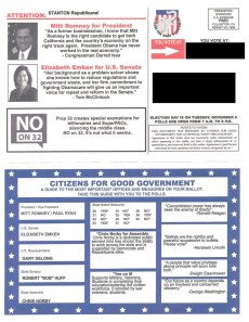 Citizens for Good Government Slate Mailer - Outside