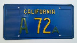 LicensePlateA72A