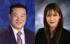 AD 55 Candidates Phillip Chen and Ling-Ling Chang