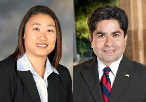 SD-34 Candidates: Orange County Supervisor Janet Nguyen (R-Garden Grove) and former Assemblyman Jose Solorio (D-Santa Ana)