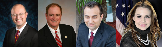 AD-74 Candidates Matt Harper, Keith Curry, Emanuel Patrascu, and Karina Onofre