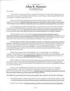 Mansoor Letter 1 of 2