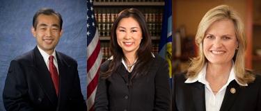 La Palma City Councilman Henry Charoen, Garden Grove City Councilwoman Dina Nguyen, and Newport Beach City Councilwoman Leslie Daigle