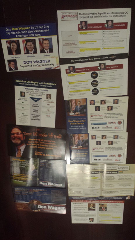 All the mail I got for the SD-37 special election.