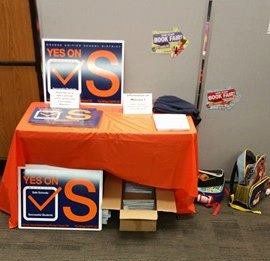 Yes on Measure S Display at Nohl Canyon Elementary School