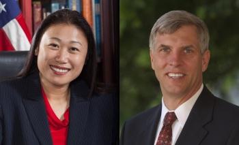 Senator Janet Nguyen (R-Garden Grove) and former Assemblyman Tom Umberg (D-Villa Park)