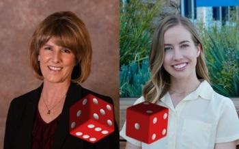 Incumbent Gail Lyons (R) and Challenger Lauren Barnes (D)